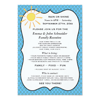 Rain or Shine Reunion, Event or Party Invitation