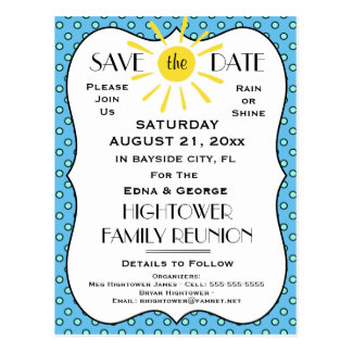 Rain or Shine Reunion,Party or Event Save the Date Postcard