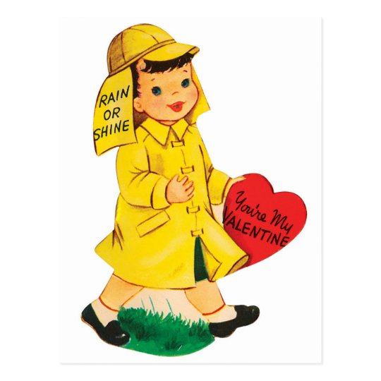 Rain or Shine | Valentine | Postcard