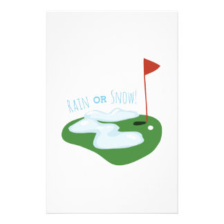 Rain Or Snow Personalized Stationery