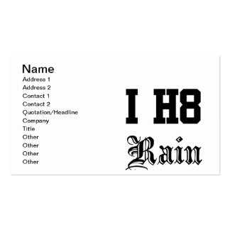 rain pack of standard business cards