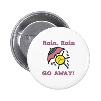 rain rain go away 6 cm round badge