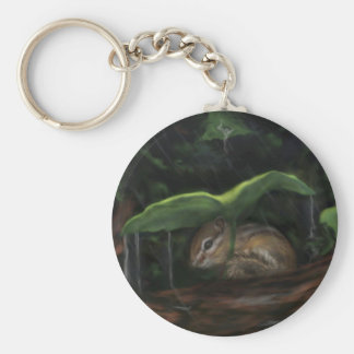 Rain, Rain, Go Away Basic Round Button Key Ring