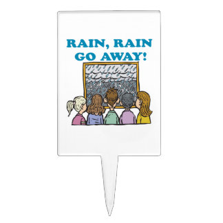 Rain Rain Go Away Cake Picks
