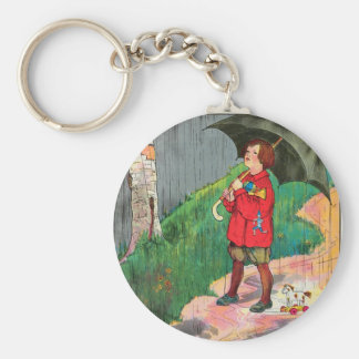 Rain, rain, go away, Come again another day Basic Round Button Key Ring