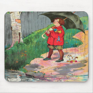 Rain, rain, go away, Come again another day Mouse Pads