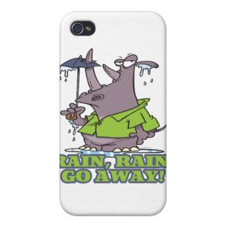 rain rain go away funny rhino april showers blues iPhone 4 covers