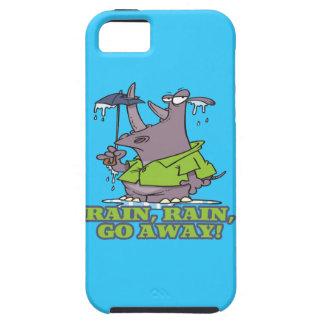 rain rain go away funny rhino april showers blues iPhone 5 covers