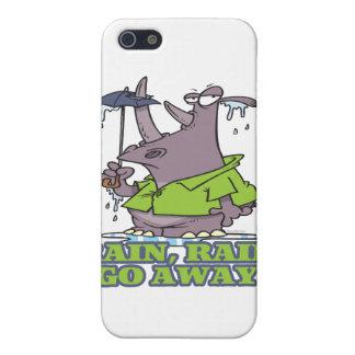 rain rain go away funny rhino april showers blues cover for iPhone 5