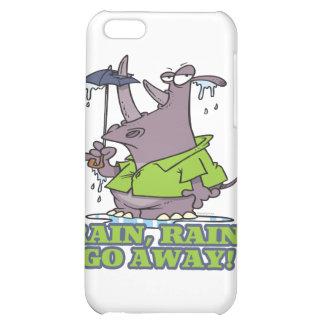 rain rain go away funny rhino april showers blues iPhone 5C case