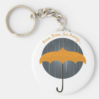 Rain Rain Go Away Basic Round Button Keychain