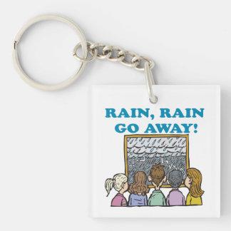 Rain Rain Go Away Square Acrylic Key Chains