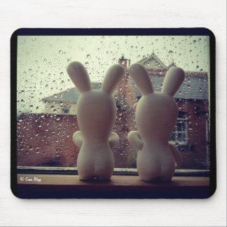 Rain Rain Go Away - Little Rabbids Mouse Pad