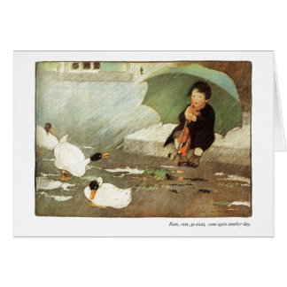 Rain, Rain Go Away Nursery Rhyme  - Card