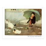 Rain, Rain Go Away Nursery Rhyme - Postcard