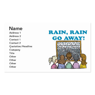 Rain Rain Go Away Pack Of Standard Business Cards