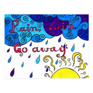 Rain, Rain Go Away - postcard