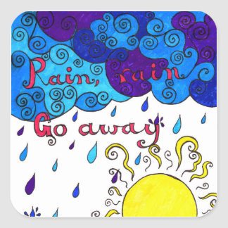 Rain, Rain Go Away - stickers