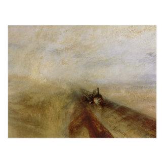 Rain Steam and Speed Postcard
