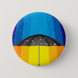 Rain storm on a sunny day 6 cm round badge