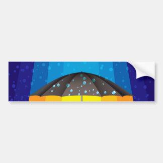 Rain storm on a sunny day bumper sticker