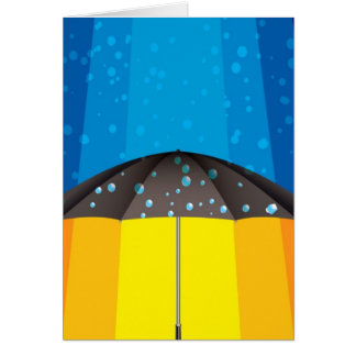 Rain storm on a sunny day greeting card