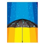 Rain storm on a sunny day post card
