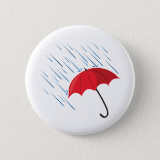 Rain Umbrella 6 Cm Round Badge