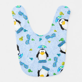 Rain Wellies Penguin Baby Bibs