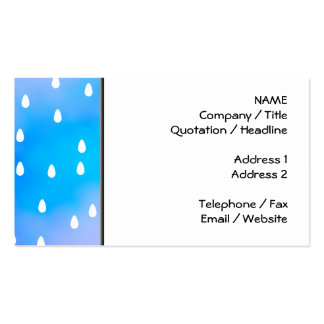 Rain with blue and purple cloudy sky business card templates
