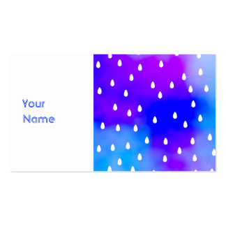 Rain with blue and purple cloudy sky. pack of standard business cards