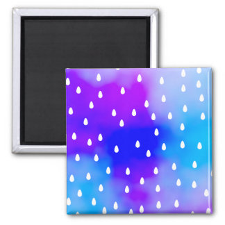 Rain with blue and purple cloudy sky. magnet
