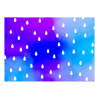 Rain with blue and purple cloudy sky. pack of chubby business cards