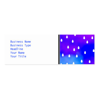 Rain with blue and purple cloudy sky. pack of skinny business cards