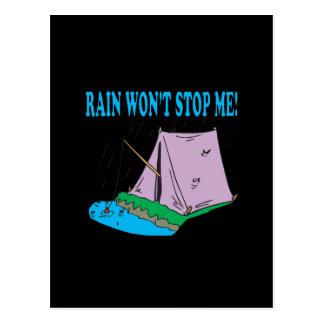 Rain Wont Stop Me Postcard