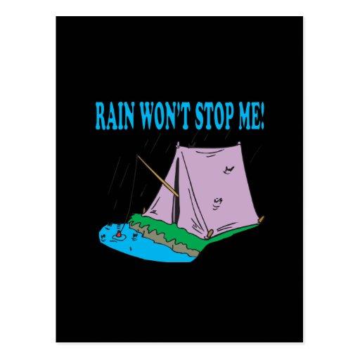 Rain Wont Stop Me Post Cards