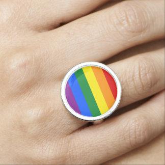 Rainblow color flag ring