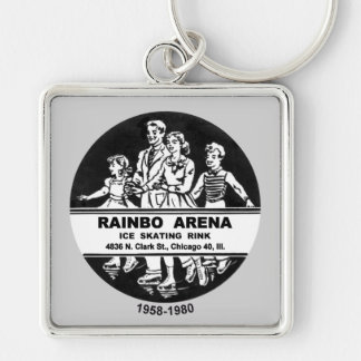 Rainbo Arena Ice Skating Rink, Chicago, IL Key Ring