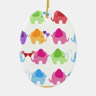 rainboe elephant clip art christmas ornament