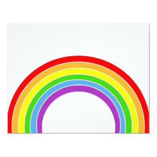 rainbow 11 cm x 14 cm invitation card