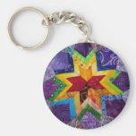 rainbow 1 folded star keychain