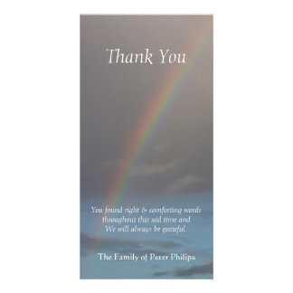 Rainbow 1 Sympathy Thank You Photo Card
