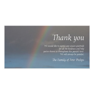 Rainbow 2 Sympathy Thank You Photo Card