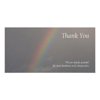 Rainbow 2 - Sympathy Thank You Photo Cards