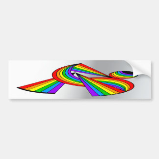 Rainbow # 2 Tattoo Car Bumper Sticker