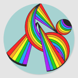 Rainbow # 2 Tattoo Stickers