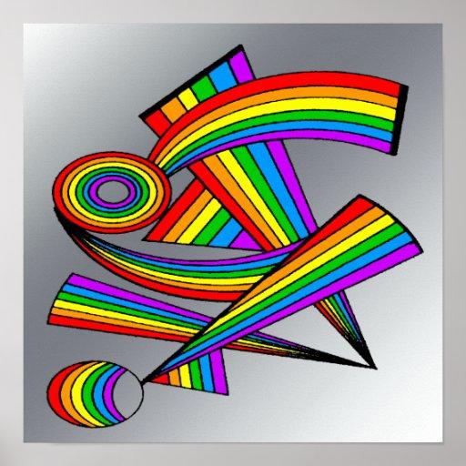 Rainbow # 3 Tattoo Poster