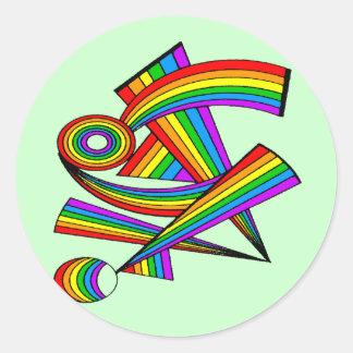Rainbow # 3 Tattoo Stickers