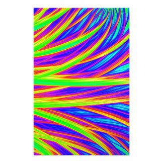 Rainbow 3D abstract art Customised Stationery