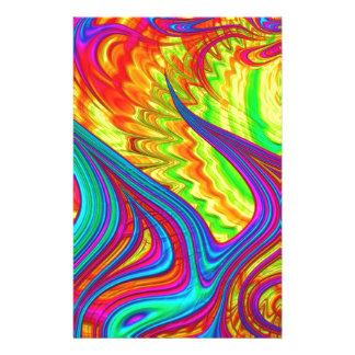 Rainbow 3D abstract art Customized Stationery